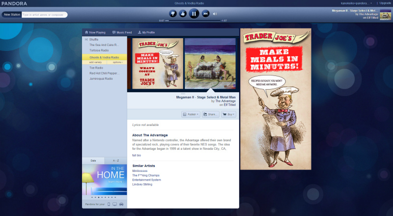 Pandora Radio   Listen to Free Internet Radio  Find New Music